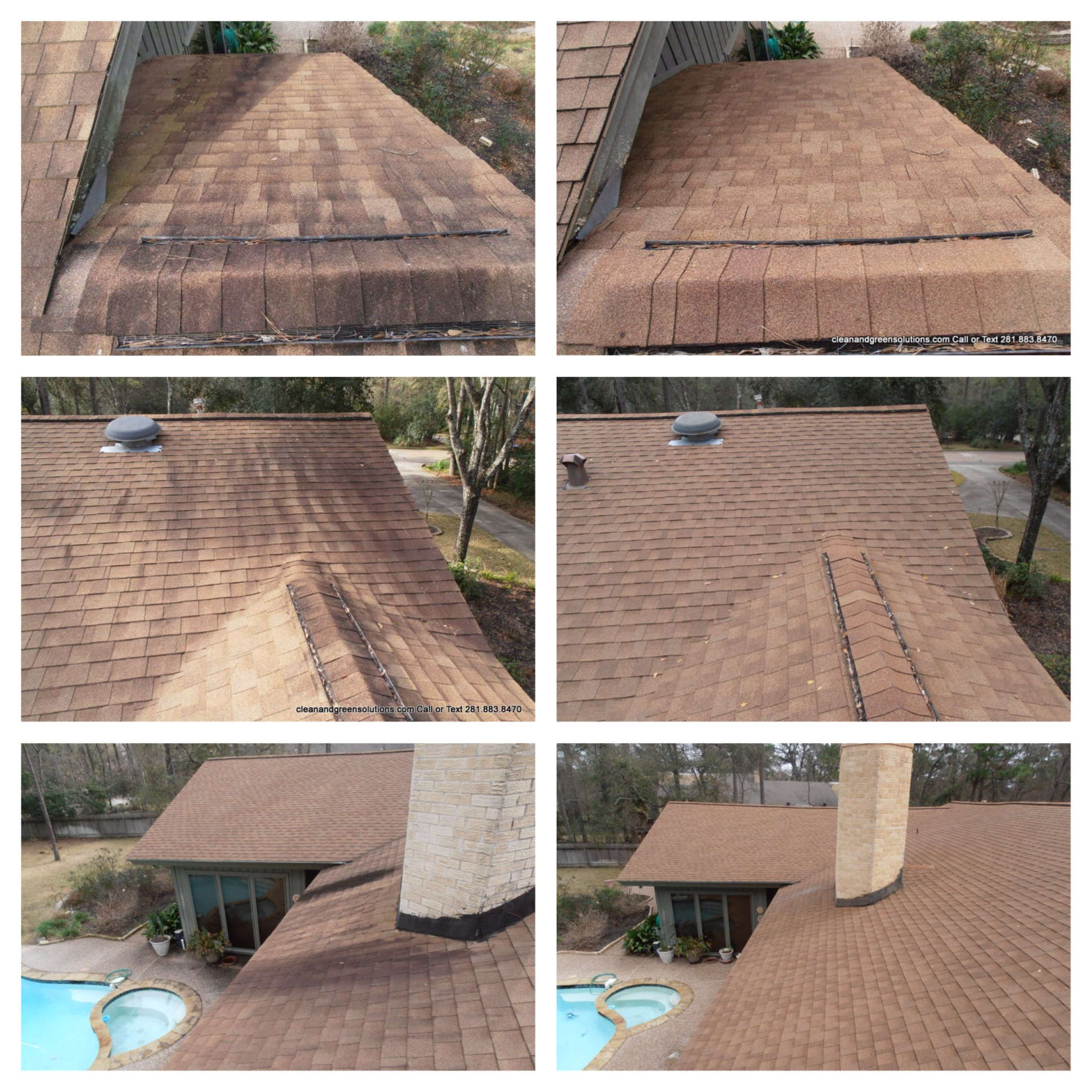 Roof Stain Removal Houston Texas